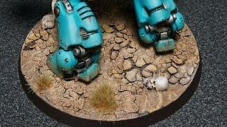 How to Make Cracked Earth Desert Bases for Miniatures