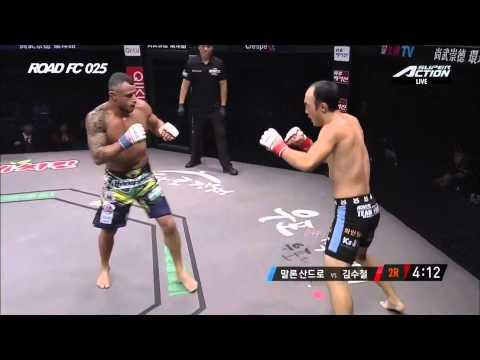 ROAD FC 025 6th Featherweight Match Kim Soo-Chul(김수철) VS Malron Sandro(말론 산드로)