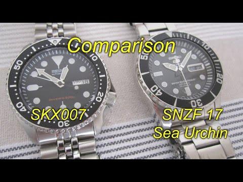 Seiko SKX007 vs SNZF 17 Sea Urchin - Comparison review