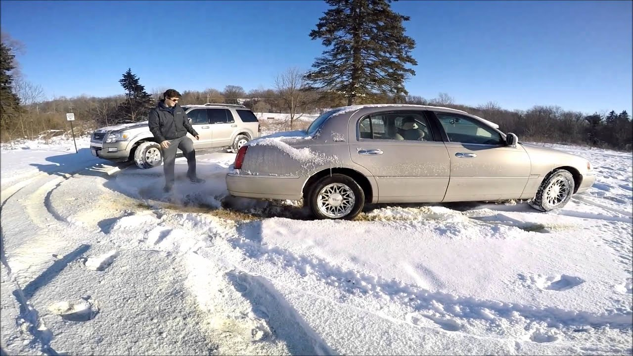 Hooning In The Snow Town Car Crashes Youtube