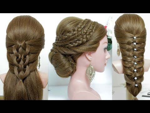 3 easy hairstyles for long hair tutorial : part2