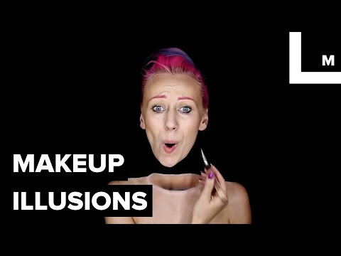 Woman Using Makeup to Transform Her Body Into Incredible Optical Illusions