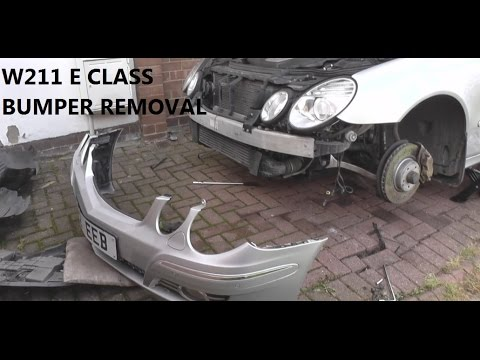 Mercedes e class w211 front bumper removal guide youtube for Mercedes benz installing parking sensors aftermarket