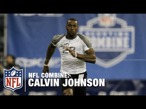 Calvin Johnson's Amazing 40-Yard Dash (4.40 Seconds) At 2007 NFL Combine