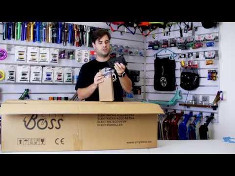 1169676faf5e6 Elektrická koloběžka City Boss V5 - unboxing - YouTube