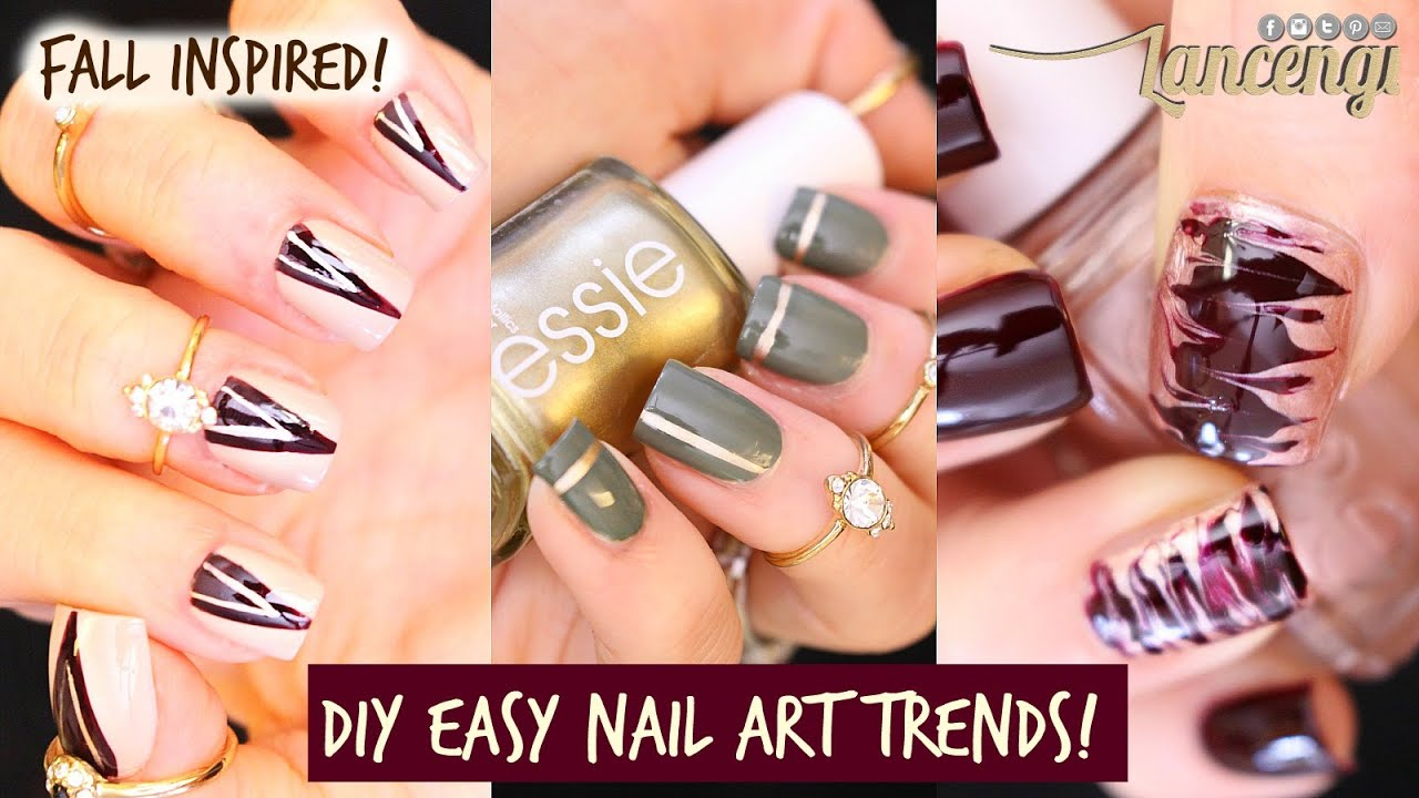 DIY Cute & Easy Nail Polish Designs for beginners #34 - YouTube