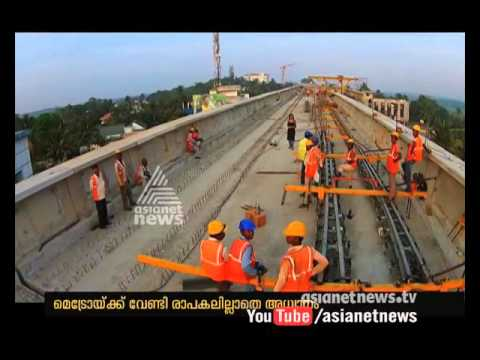 Migrant Labours participation in Kochi Metro Construction |   Kochi Metro working in progress