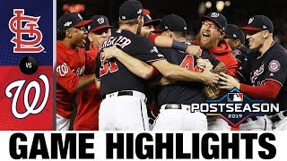 Nationals clinch first World Series trip! | Nationals-Cardinals MLB Highlights