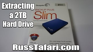 Seagate Backup Plus Slim Uncasing - How to Extract the Hard Drive