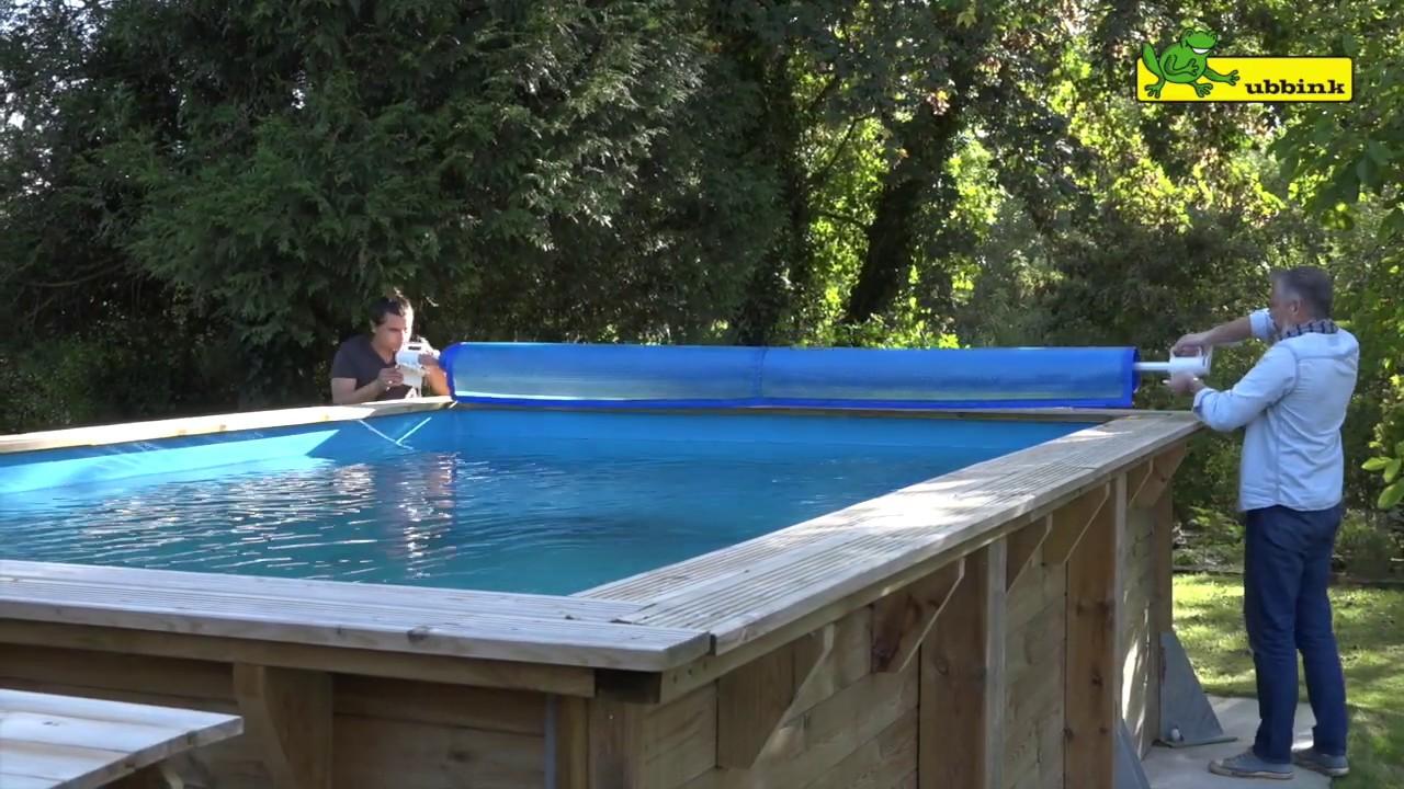 montage enrouleur amovible de b che pour piscine hors sol youtube