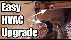MORE HVAC POWER! Improve Ducted HVAC With a Automatic Booster Fan