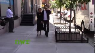 Sam Worthington and Lara Bingle go on a New York City stroll