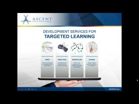 ASCENT Webcast: Autodesk Courseware Options and Updates for ATC's