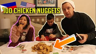 100 CHICKEN NUGGETS in 10 Minutes Challenge! (Gone Wrong)