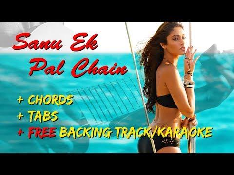 Sanu Ek Pal Chain | EASY | BEGINNERS Lead Guitar Lesson + Chords + FREE Backing Track/Karaoke | Raid