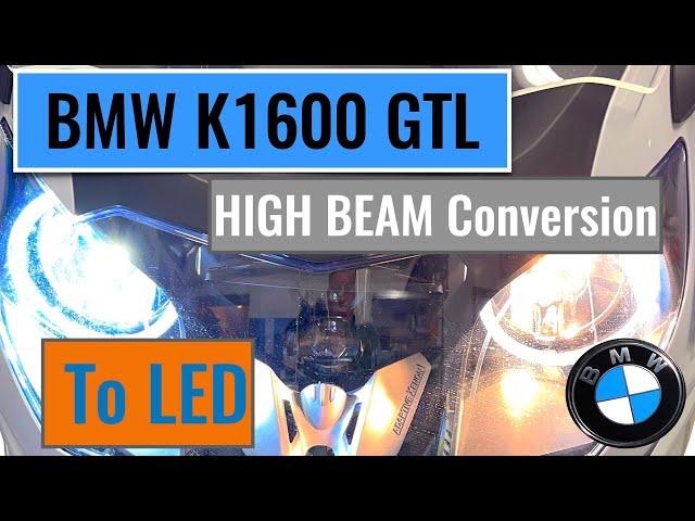 BMW K 1600 GTL headlight LED conversion