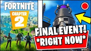 🔴 FORTNITE FINAL EVENT IS HAPPENING *RIGHT NOW* (Fortnite Season 10 EVENT - CHAPTER 2 NEW MAP)