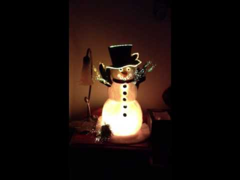 fiber optic snowman - Fiber Optic Snowman Christmas Decorations