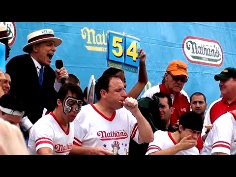 Nathan S Hot Dog Eating Contest  Youtube