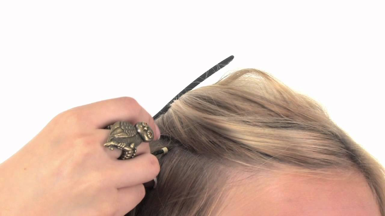 Professional Tool Kit Applying Feather Hair Extensions Youtube