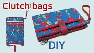 DIY Clutch bags diy/Clutches / Clutch bag tutorial/크러치백 만들기/지퍼파우치//Sacos de embreagem/
