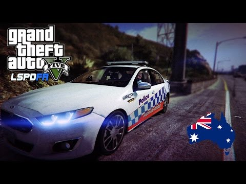 GTA 5 - NSW Police Mod - Ford Falcon XR6 Highway Patrol (Play GTA V as a cop mod for PC) #OZGTA