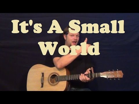 Its a Small World (Disney) Super Easy Guitar Lesson Strum Chords How to Play Tutorial - G C D