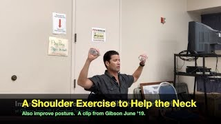 A Shoulder Exercise to Help the Neck. Clip from Gibson June '19. Crooked Spine Show