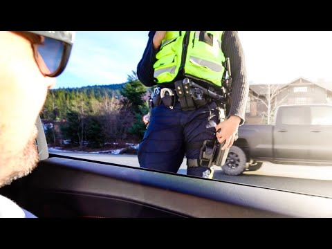 Lamborghini Pulled Over By Royal Canadian Mounted POLICE!