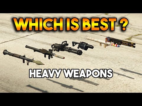 GTA 5 ONLINE : RPG VS HOMING LAUNCHER VS MINIGUN (WHICH IS BEST HEAVY WEAPON ?)