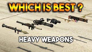 GTA 5 ONLINE : RPG VS HOMING LAUNCHER VS MINIGUN (WHICH IS BEST HEAVY WEAPON ?)