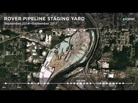 Rover Pipeline Staging Yard