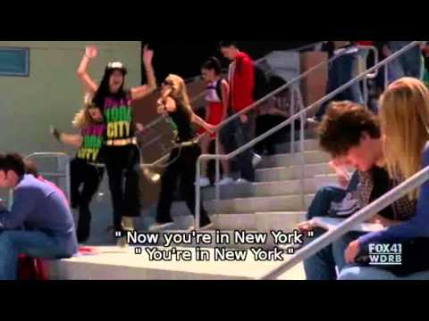 Glee Empire State Of Mind VIDEO (Lyrics)
