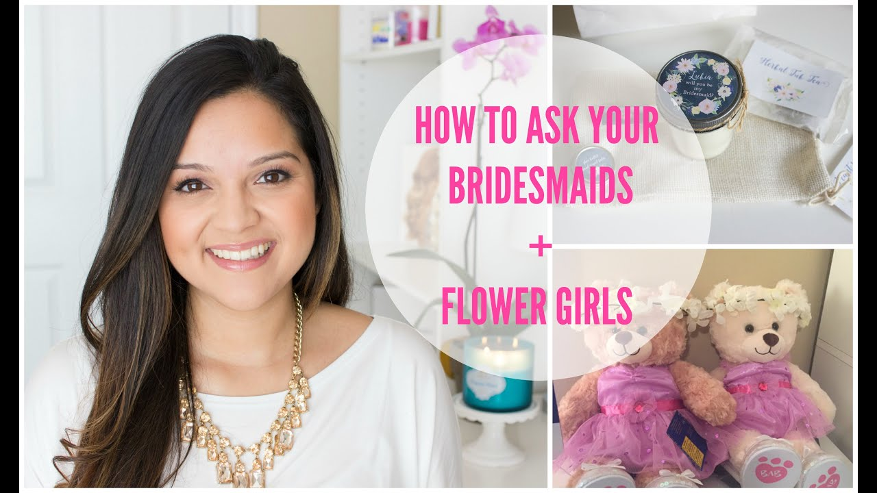 Wedding Planning Will You Be My Bridesmaid Flower Girl Ideas