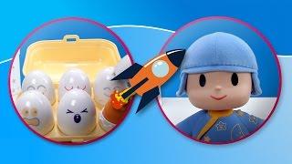 ぽこよ(ポコジョ)がタテティトイズでトミーのたまご型おもちゃで色と形をお勉強するよ。ぽこよ(ポコジョ)はお星さまがついた青色のパジ...