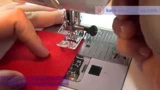 Курсы шитья. Швейная машинка. Как выполнить ровный шов.
