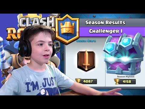 DRAFT CHEST OPENING + 1v1 BATTLE IN ARENA - Clash Royale