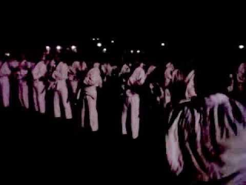 SPN Padang Besi yel - yel Tim Peragaan Beladiri Polri