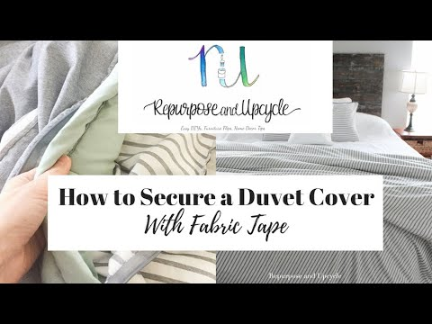 Duvet Cover In Place With Fabric Tape