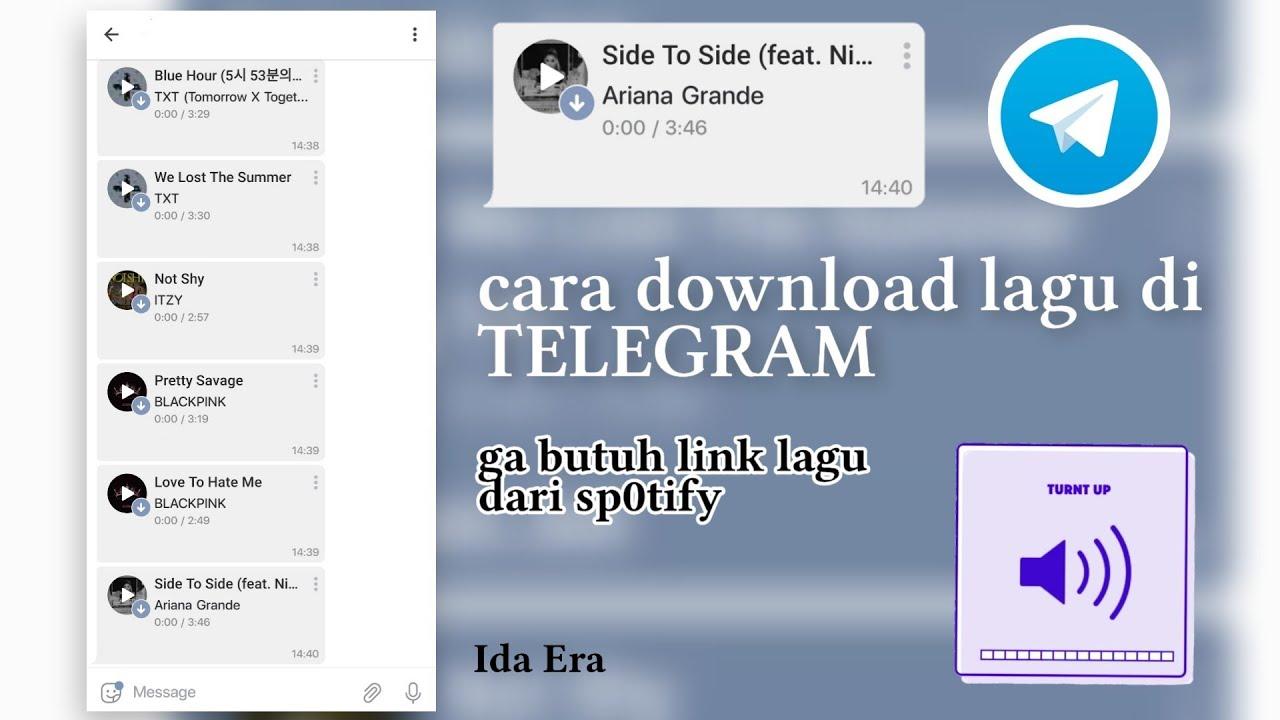 Cara Download Lagu Di Telegram Youtube