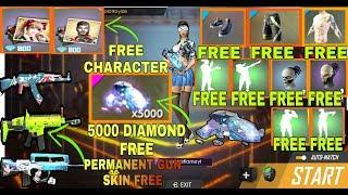 FREEFIRE:-Free Diamond Unlimited Free emotes free character free gun skin free mask 🇮🇳[Hindi].