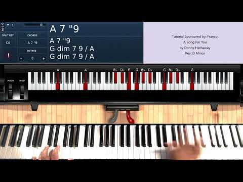 A Song For You (by Donny Hathaway) - Piano Tutorial