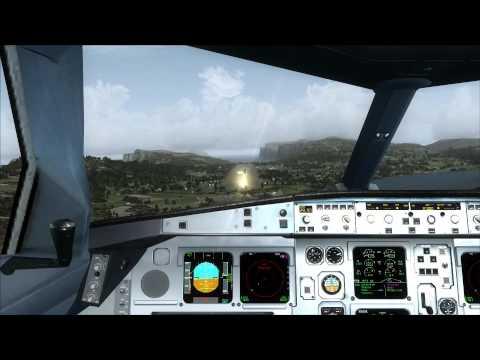 OMAN AIR A330-300 approaching Faroe Islands (EKVG)