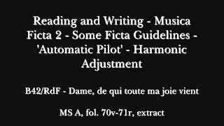 Guillaume de Machaut, B42/RdF, extract: Dame, de qui toute ma joie vient