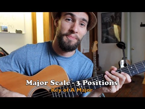 How to Play the Major Scale on Guitar - 3 Positions