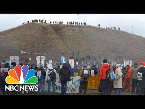 Standing Rock Protests Don't Stop For Thanksgiving | NBC News