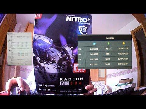 RX 580 Nitro+ OC 8GB MINING POWER 7/4/2019