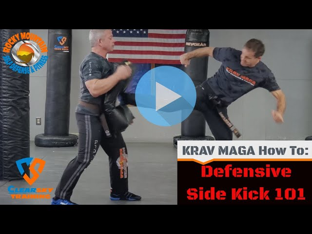 How To Throw A Side Kick In Krav Maga 101 Lesson