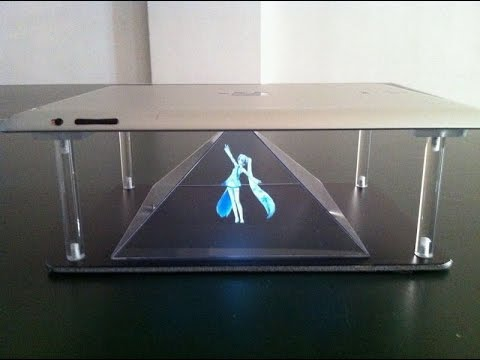 3D hologram iphone / Samsung  / smartphone or tablet ebay kit stand kit.