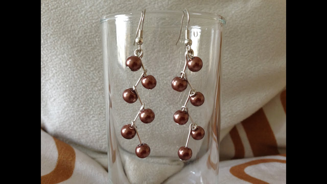DIY earring | make earring at home | How to make earrings ...